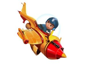 The Brave Boy Piloted his Aircraft into more dista
