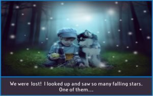 Lost Boy and Dog Story Starter