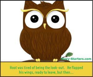 Featured Fun owl story starter picture for kids