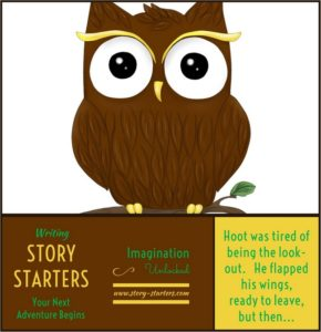 Fun owl story starter picture for kids