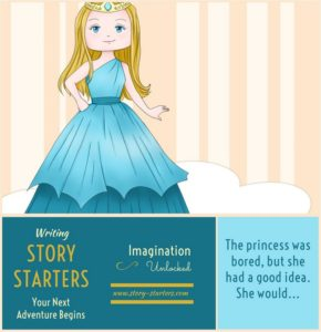 Image of a bored princess for the Children's Story: The Bored Princess