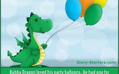 Party Dragon Story Starter for Children
